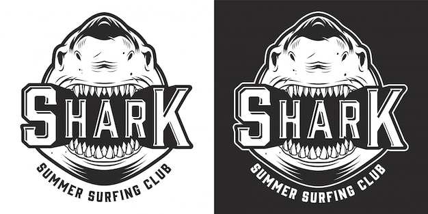 Vintage summer surfing club logo