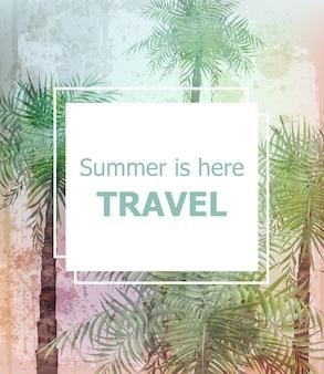 Vintage summer travel card