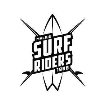 Винтажная графика серфинга, логотип, этикетка