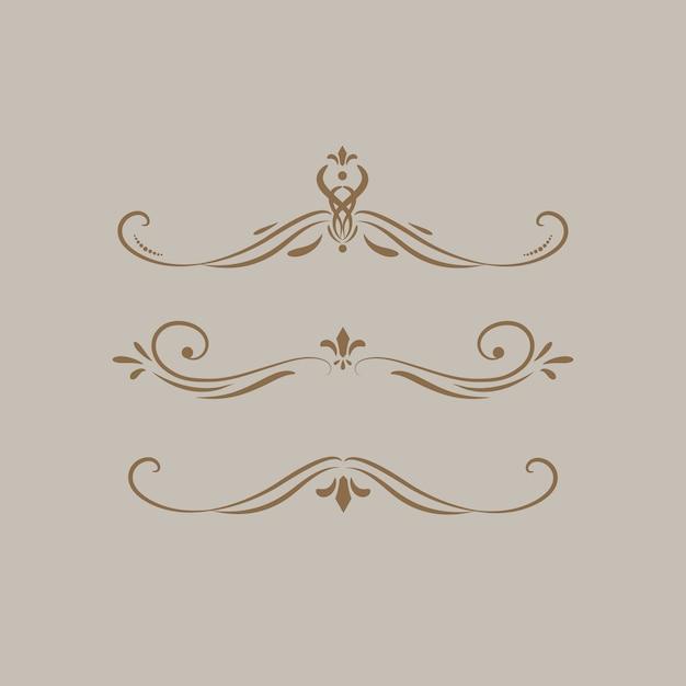 빈티지 소용돌이 디자인 요소