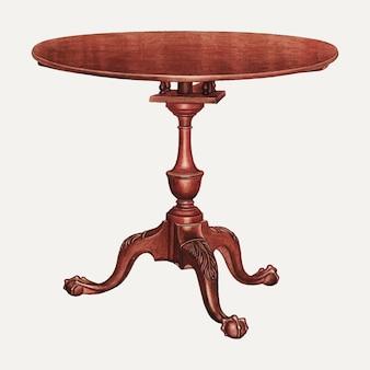 フランクウェンガーによるアートワークからリミックスされたヴィンテージテーブルイラストベクトル