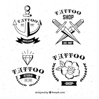 Коллекция vintage tattoo logo