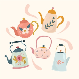 Vintage teapots set