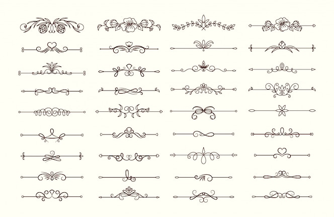 vintage text dividers collection
