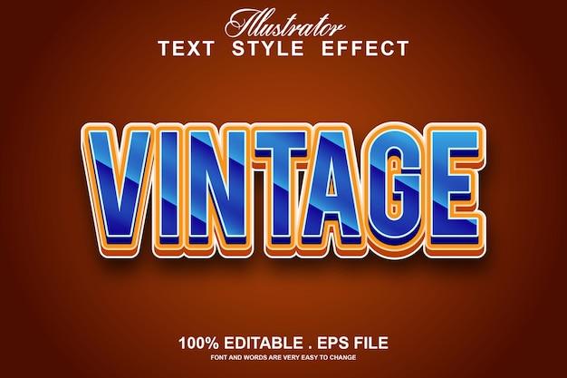 Vintage text effect editable