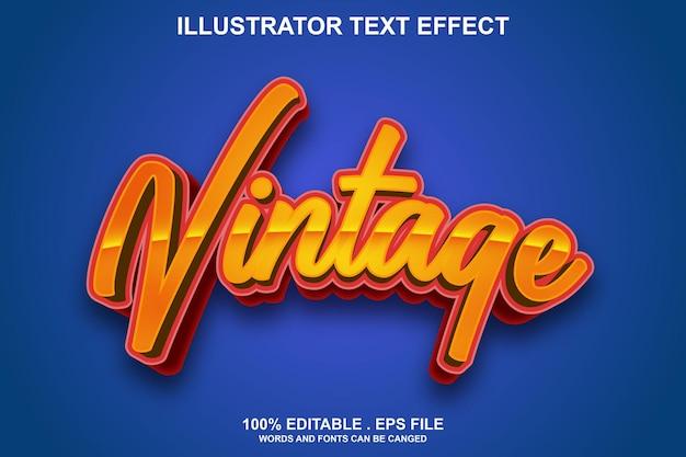 Старинный текстовый эффект редактируемый