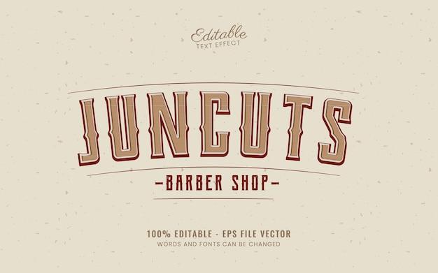 Vintage text effect good for barber shop free vector