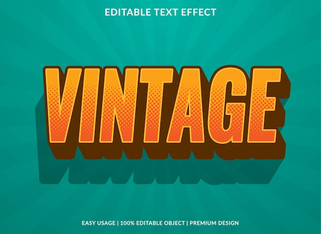 Vintage text effect with retro style