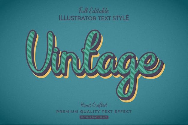 Vintage text style effect premium vector