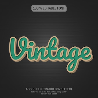 Vintage text style