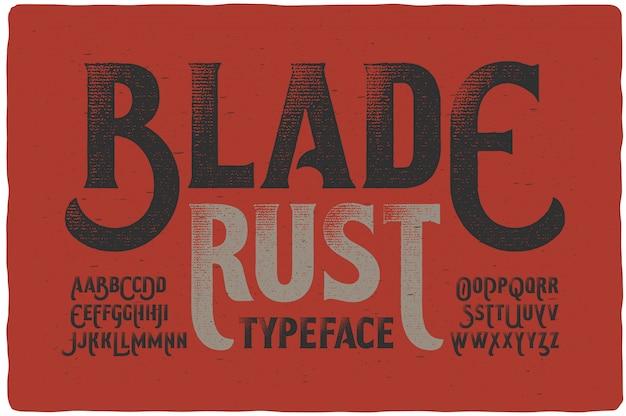 Винтажный текстурированный набор шрифтов