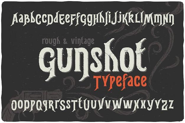 빈티지 질감 된 글꼴 세트