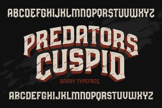 Vintage textured font