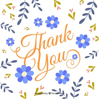 Annata, ringraziare, fondo, fiori, foglie