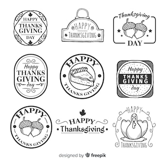 Vintage thanksgiving badge collection