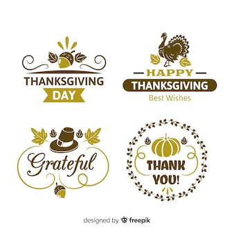 Vintage thanksgiving day label collection