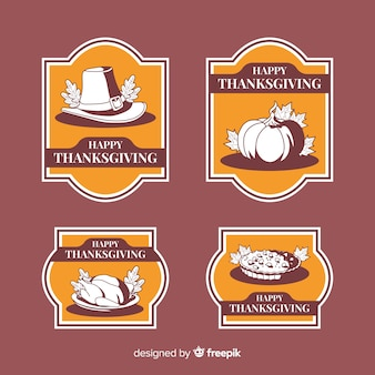 Vintage thanksgiving label collection