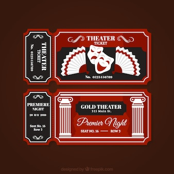 Vintage theater tickets