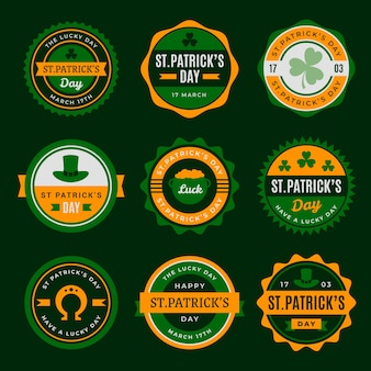 Vintage theme for st. patricks day label collection