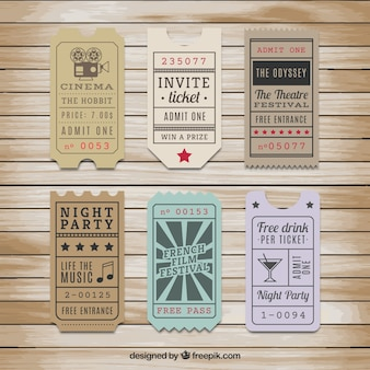 Ticket Template Vectors, Photos and PSD files | Free Download