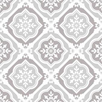 Vintage tile pattern seamless vector