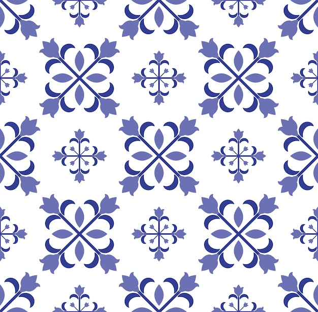 Vintage tile seamless pattern design