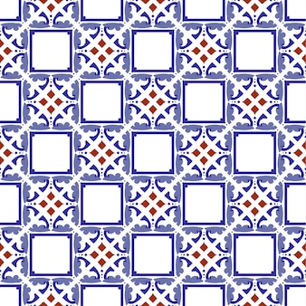 Vintage tile seamless pattern