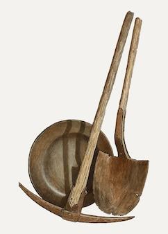 Illustrazione vettoriale di strumenti vintage, remixata dall'opera d'arte di rose campbell–gerke