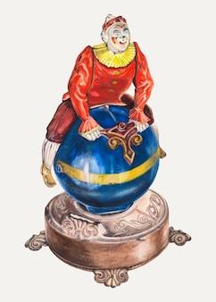 Lew tower의 삽화에서 리믹스된 빈티지 장난감 은행 일러스트레이션 벡터
