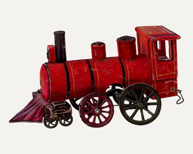 Векторная иллюстрация винтажного поезда, ремикс из работы криса макреноса