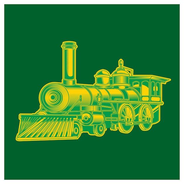 Vintage train issolated illustration