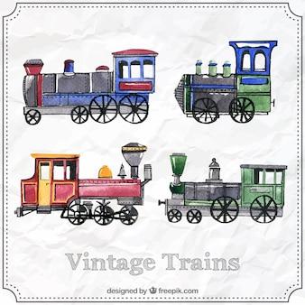 Vintage trains collection