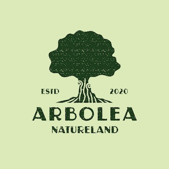 Vintage tree logo template