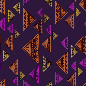 Vintage trendy abstract triangle drawing pattern
