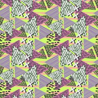 Винтаж модный геометрический треугольник рисованной узор