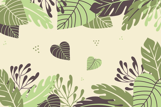 Vintage tropical background concept