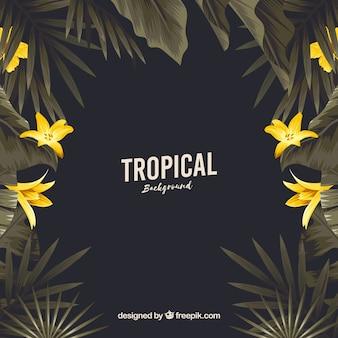 Урожай тропический фон с плоским дизайном