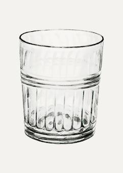 Illustrazione vettoriale di un bicchiere vintage, remixato dall'opera d'arte di john dana