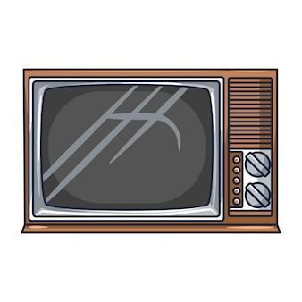 Vintage tv on a white background