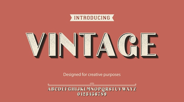 Vintage  typeface. for creative purposes