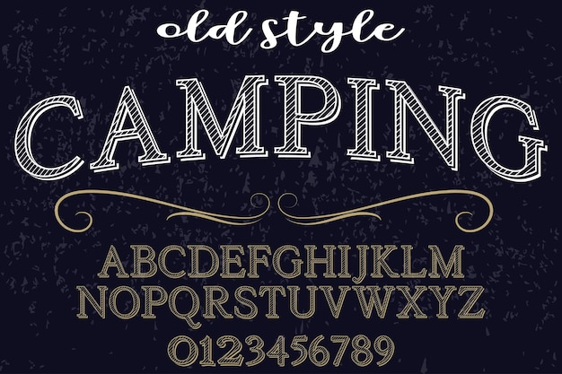 Vintage font graphic style camping Vector | Premium Download