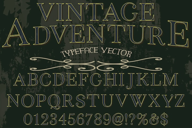 Vintage typeface graphic style adventure