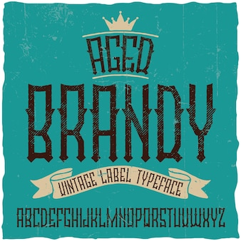 Винтажный шрифт brandy. хороший шрифт для любых винтажных этикеток или логотипов.