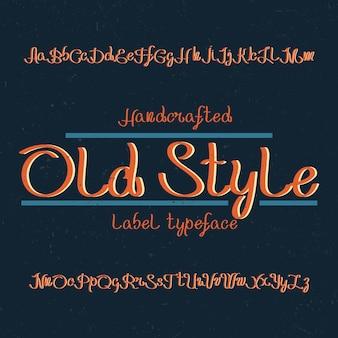 Carattere tipografico vintage denominato old style. buon carattere da utilizzare in qualsiasi logo vintage.