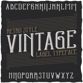 Винтажный шрифт под названием vintage