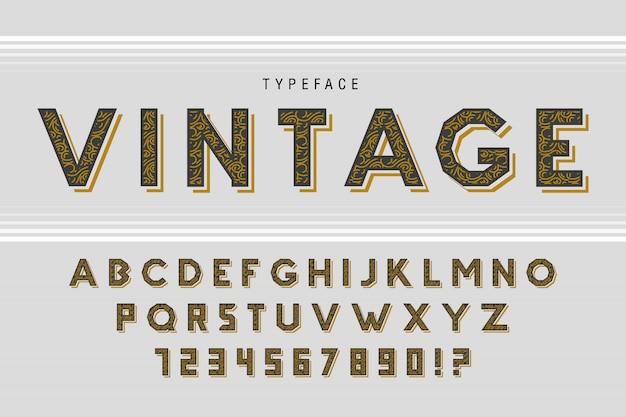 Винтажный шрифт в стиле ретро