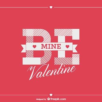 Vintage typographic valentine's day card design