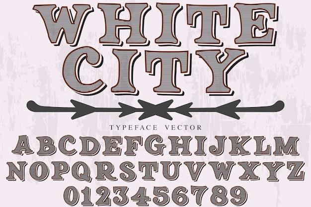 ビンテージタイポグラフィフォントデザインホワイトシティ