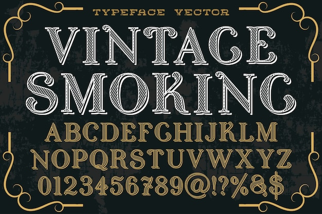 Vintage typography graphic style smoking