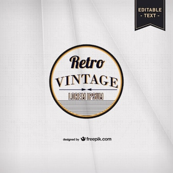 Vintage typography paper template